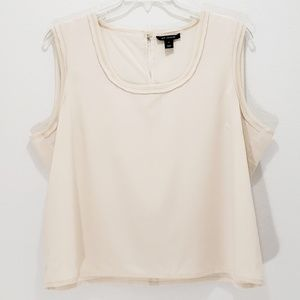 St. John Silk Cami Tank Cream Raw Edge Plus 16